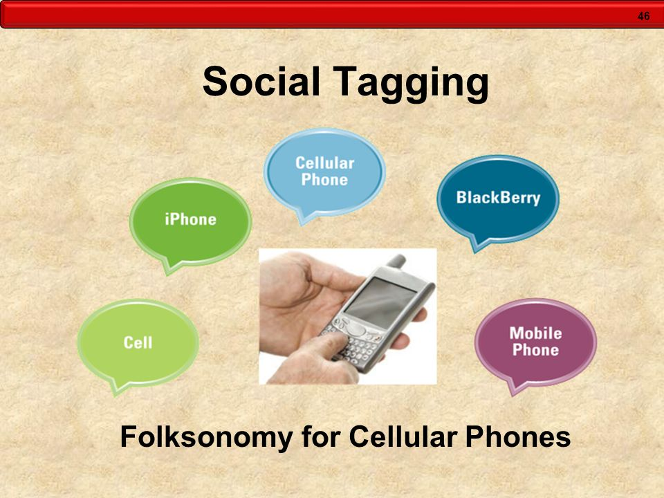 46 Social Tagging Folksonomy for Cellular Phones