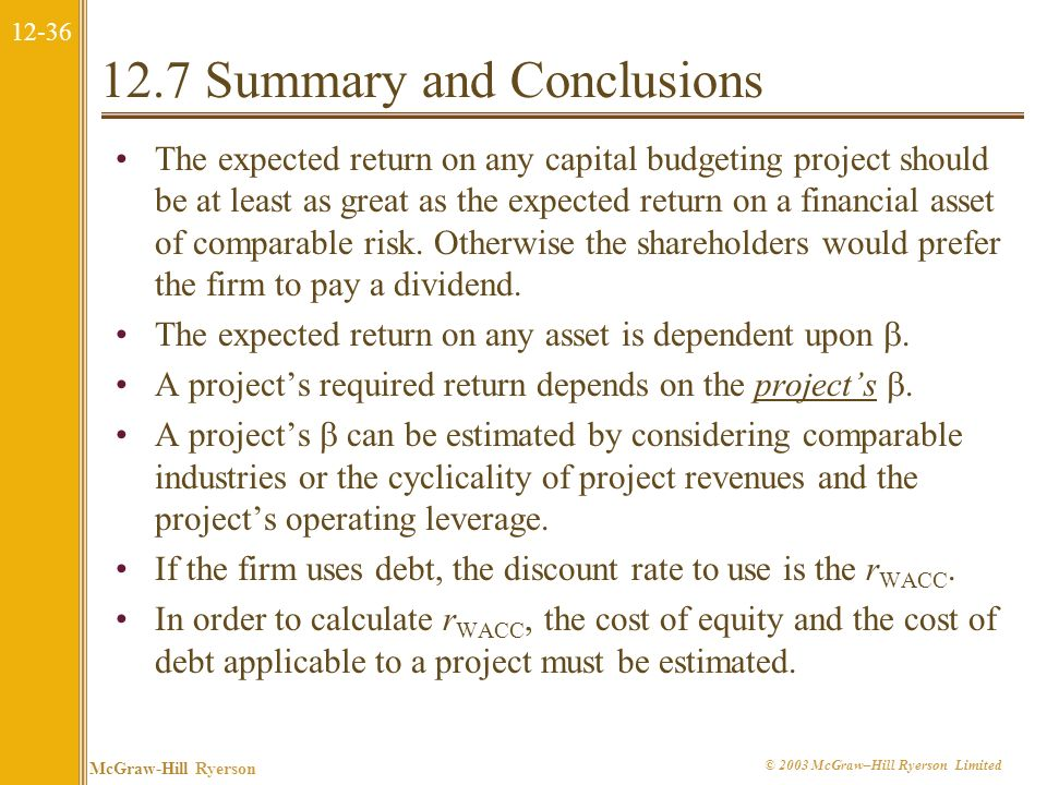 12-35 McGraw-Hill Ryerson © 2003 McGraw–Hill Ryerson Limited What the Corporation Can Do Companies can also facilitate stock purchases through the Int
