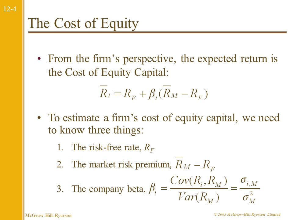 12-14 McGraw-Hill Ryerson © 2003 McGraw–Hill Ryerson Limited Operating Leverage The degree of operating leverage measures how sensitive a firm (or project) is to its fixed costs.
