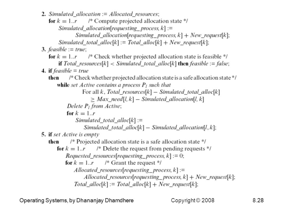 Operating Systems, by Dhananjay Dhamdhere Copyright © 20088.28Operating Systems, by Dhananjay Dhamdhere28