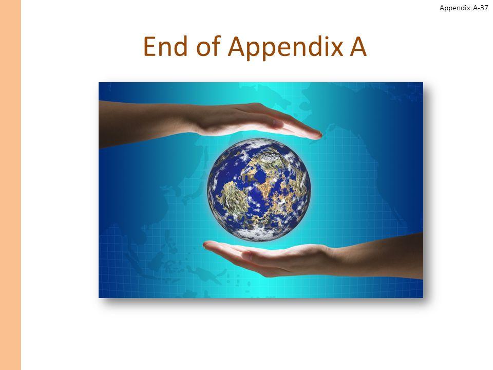 Appendix A-37 End of Appendix A