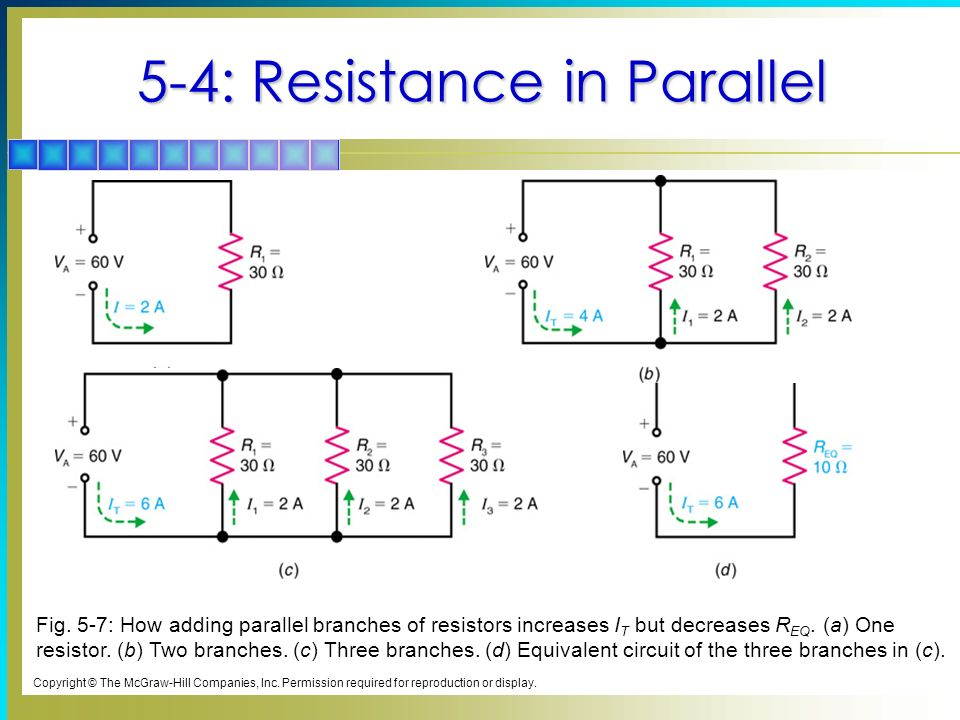 5-4: Resistance in Parallel Fig.