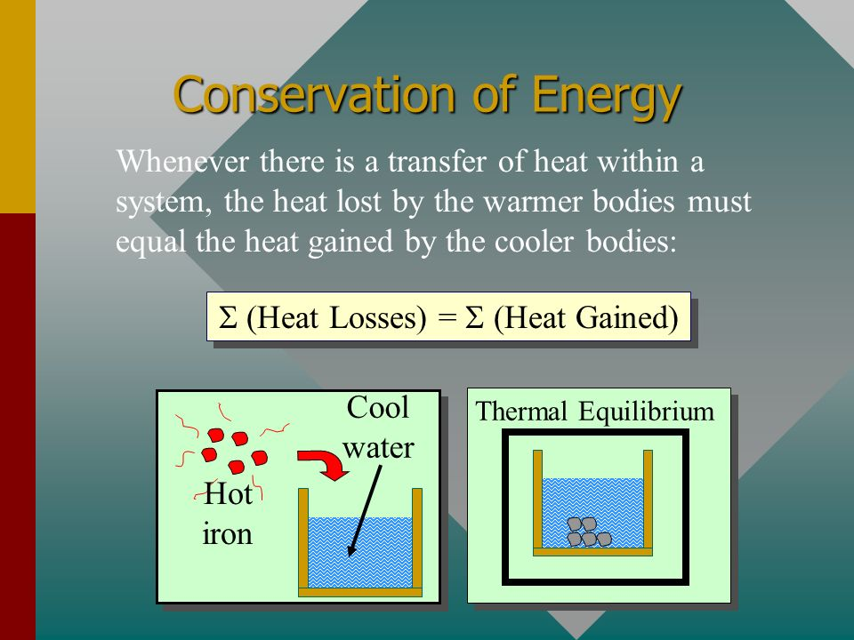 A Word About Units The substituted units must be consistent with those of the chosen value of specific heat capacity. Q = m w c w t For example: Water