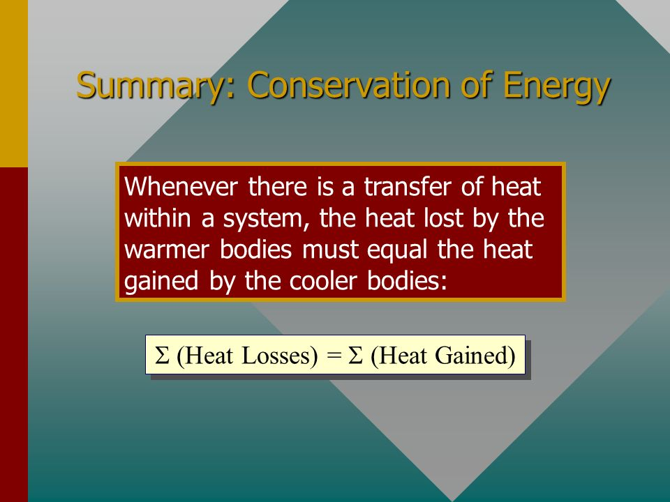 Summary: Specific Heat Capacity The specific heat capacity of a material is the quantity of heat to raise the temperature of a unit mass through a uni