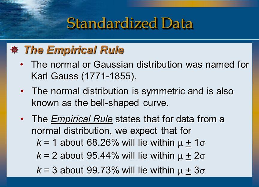 In Excel, use =STANDARDIZE(Array, Mean, STDev) to calculate a standardized z value.In Excel, use =STANDARDIZE(Array, Mean, STDev) to calculate a standardized z value.