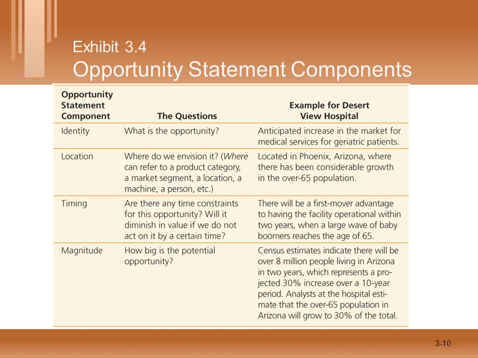 Exhibit 3.4 Opportunity Statement Components 3-10