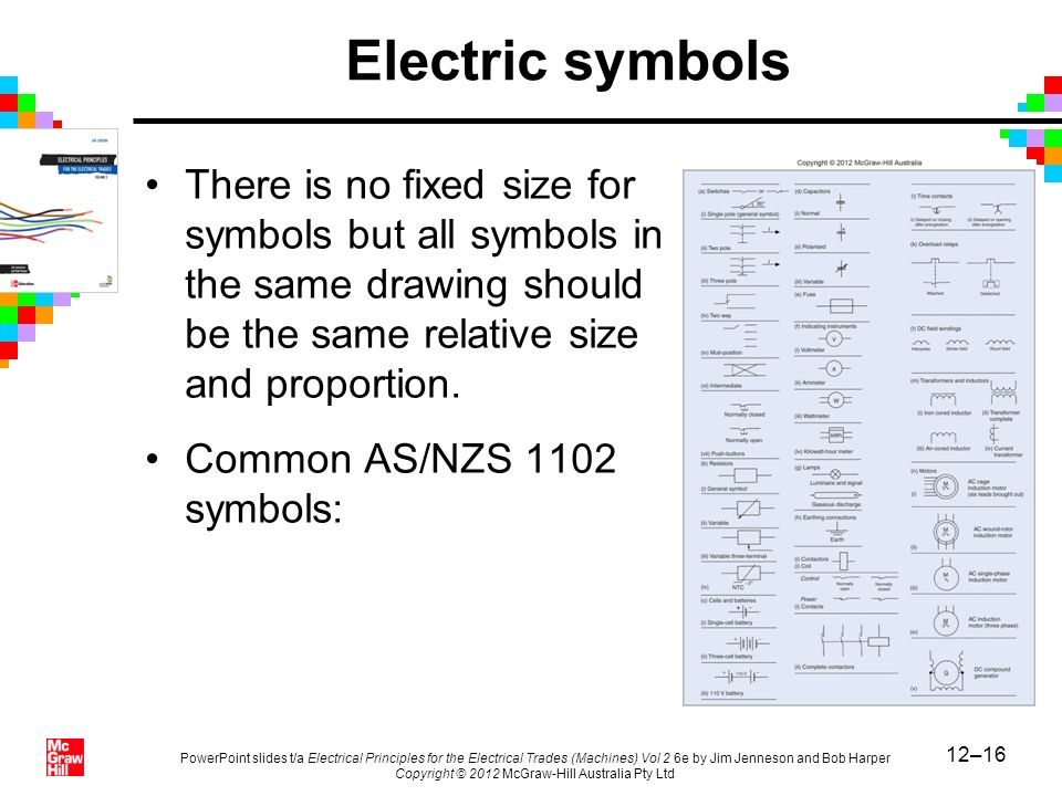 12–16 PowerPoint slides t/a Electrical Principles for the Electrical Trades (Machines) Vol 2 6e by Jim Jenneson and Bob Harper Copyright © 2012 McGraw