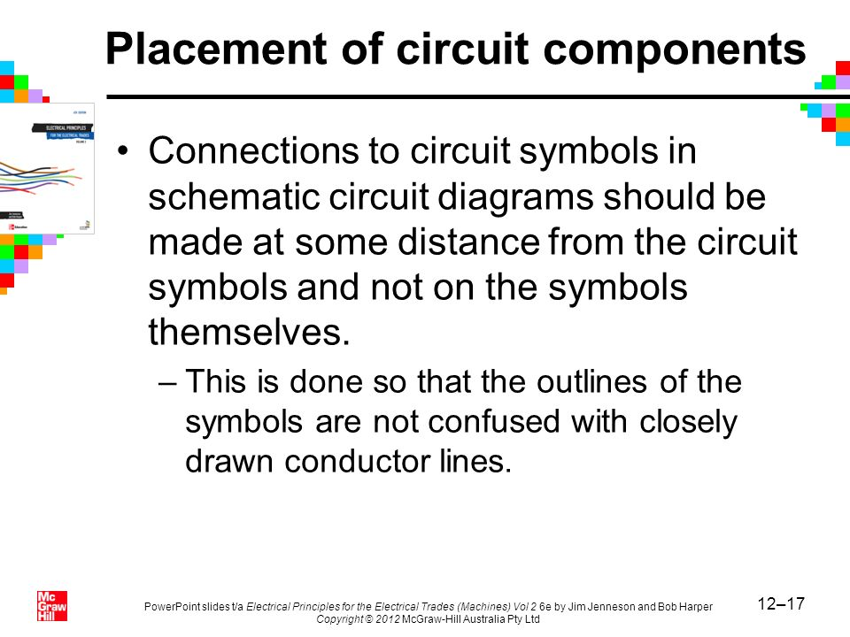 12–17 PowerPoint slides t/a Electrical Principles for the Electrical Trades (Machines) Vol 2 6e by Jim Jenneson and Bob Harper Copyright © 2012 McGraw