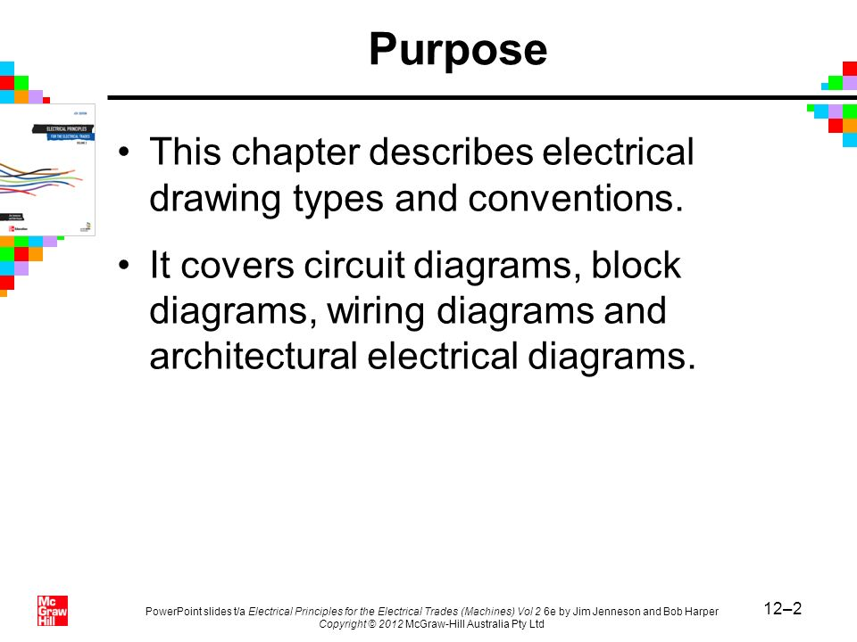 12–2 PowerPoint slides t/a Electrical Principles for the Electrical Trades (Machines) Vol 2 6e by Jim Jenneson and Bob Harper Copyright © 2012 McGraw-