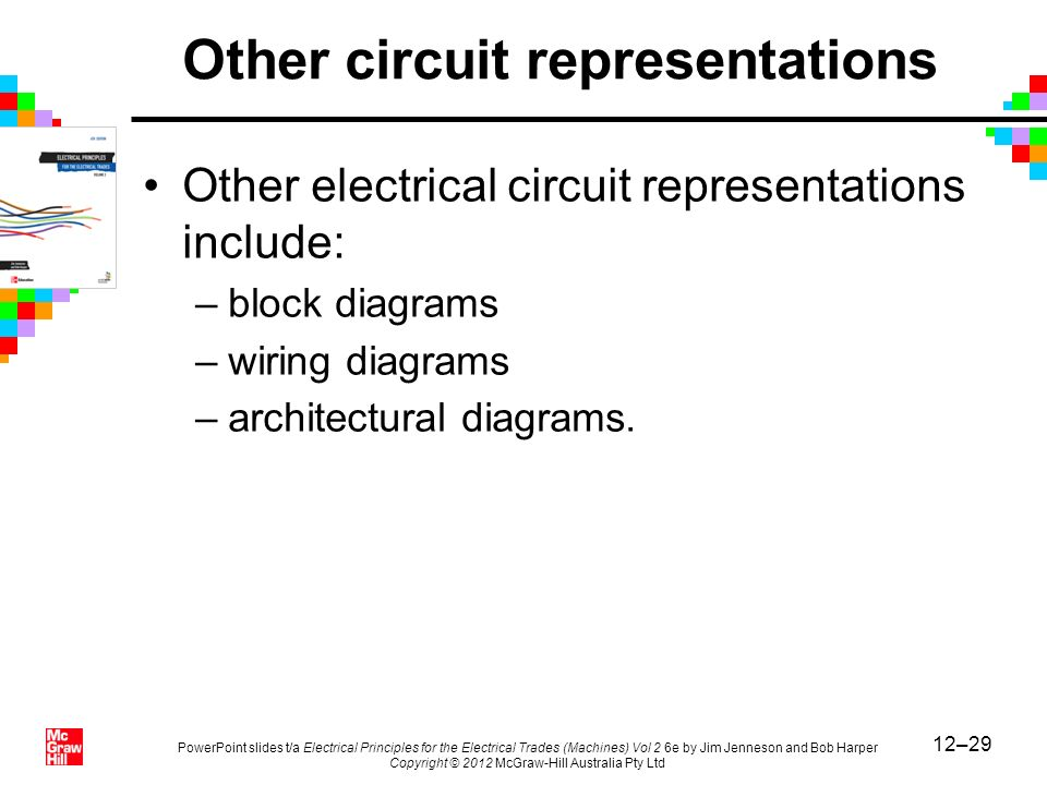 12–29 PowerPoint slides t/a Electrical Principles for the Electrical Trades (Machines) Vol 2 6e by Jim Jenneson and Bob Harper Copyright © 2012 McGraw