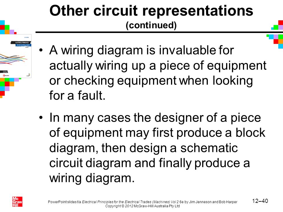 12–40 PowerPoint slides t/a Electrical Principles for the Electrical Trades (Machines) Vol 2 6e by Jim Jenneson and Bob Harper Copyright © 2012 McGraw