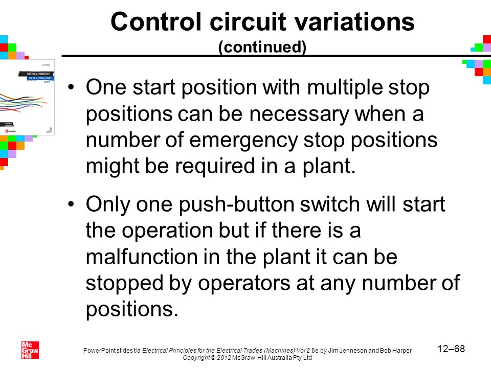 12–68 PowerPoint slides t/a Electrical Principles for the Electrical Trades (Machines) Vol 2 6e by Jim Jenneson and Bob Harper Copyright © 2012 McGraw