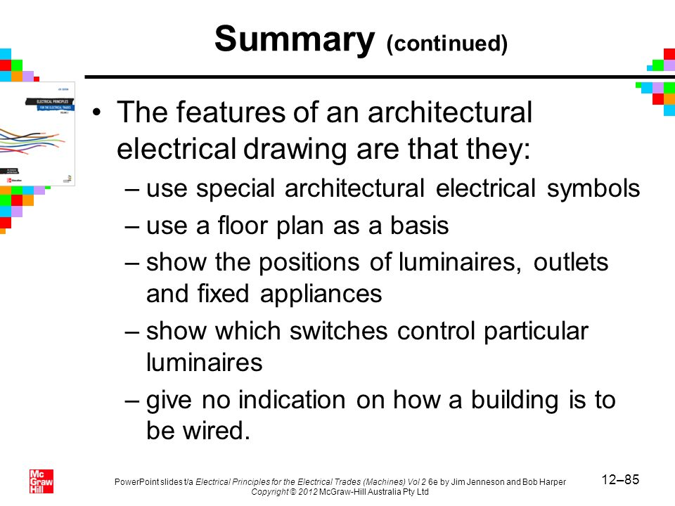 12–85 PowerPoint slides t/a Electrical Principles for the Electrical Trades (Machines) Vol 2 6e by Jim Jenneson and Bob Harper Copyright © 2012 McGraw