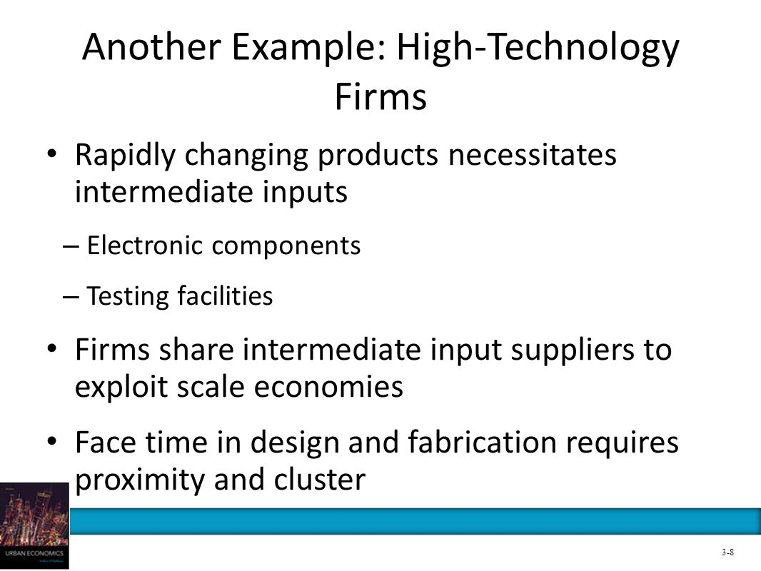 Another Example: High-Technology Firms Rapidly changing products necessitates intermediate inputs – Electronic components – Testing facilities Firms s