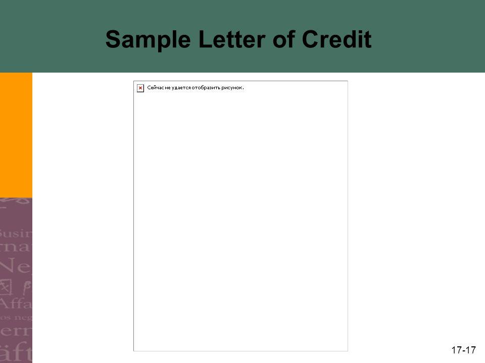 17-17 Sample Letter of Credit