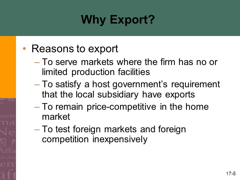 17-5 Why Export.