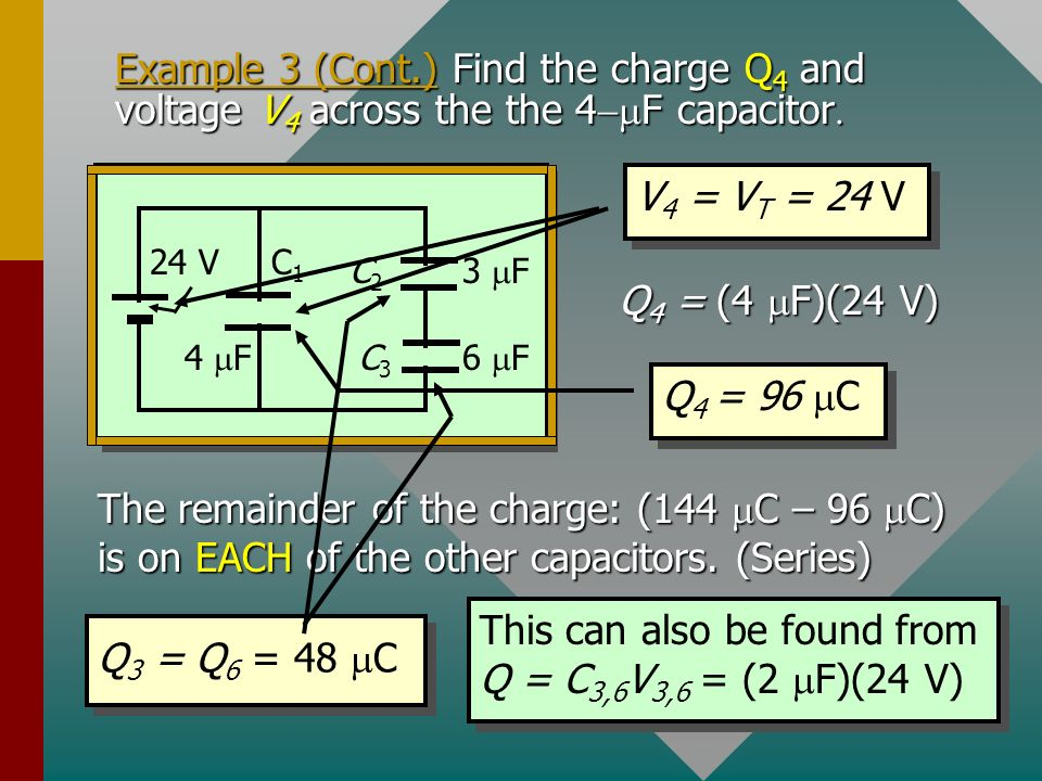 Example 3 (Cont.) Find the total charge Q T.