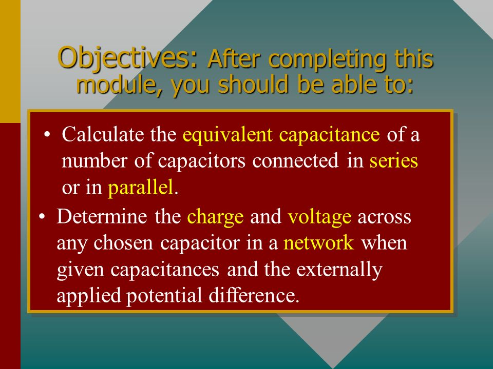 Chapter 26B - Capacitor Circuits A PowerPoint Presentation by Paul E.