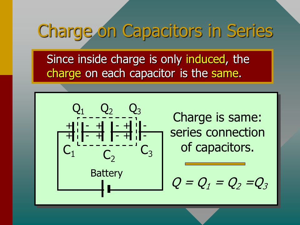 Series Circuits Capacitors or other devices connected along a single path are said to be connected in series. See circuit below: Series connection of