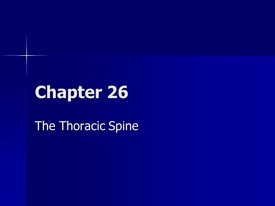 Biomechanics Extension of the thoracic spine is produced principally by the lumbar extensors, and results in an inferior glide of the superior facet of the zygapophyseal joint Extension of the thoracic spine is produced principally by the lumbar extensors, and results in an inferior glide of the superior facet of the zygapophyseal joint 1-2º of extension is available at each thoracic segment, giving an overall average of 15-20º of thoracic extension for the entire thoracic spine 1-2º of extension is available at each thoracic segment, giving an overall average of 15-20º of thoracic extension for the entire thoracic spine