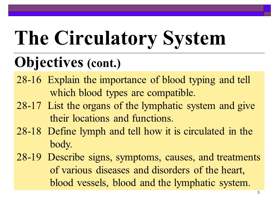4 28-11Give the functions of red blood cells, the different types of white blood cells, and platelets. 28-12List the substances normally found in plas