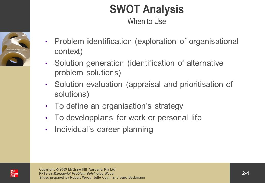 2-15 Copyright 2009 McGraw-Hill Australia Pty Ltd PPTs t/a Managerial Problem Solving by Wood Slides prepared by Robert Wood, Julie Cogin and Jens Beckmann PEST Analysis Guiding Questions Political Influence upon the regulation of businesses How stable is the political environment.