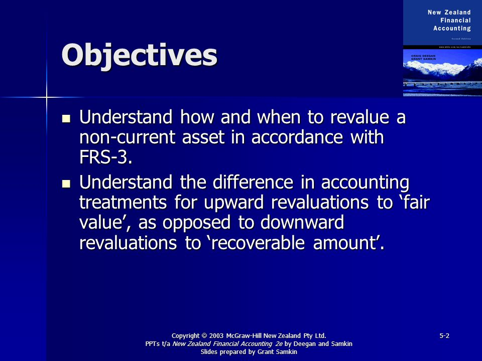 Copyright 2003 McGraw-Hill New Zealand Pty Ltd. PPTs t/a New Zealand Financial Accounting 2e by Deegan and Samkin Slides prepared by Grant Samkin 5-2