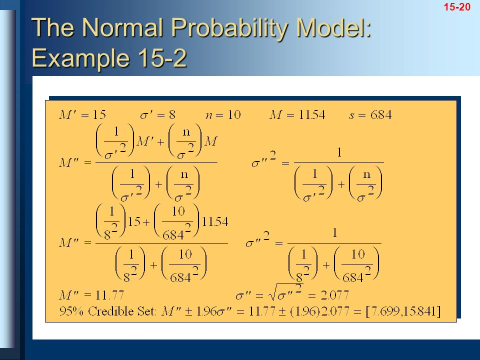 15-20 The Normal Probability Model: Example 15-2