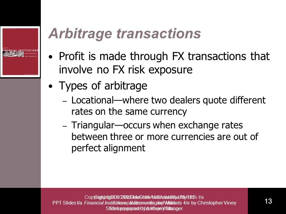 Copyright 2003 McGraw-Hill Australia Pty Ltd PPT Slides t/a Financial Institutions, Instruments and Markets 4/e by Christopher Viney Slides prepared b