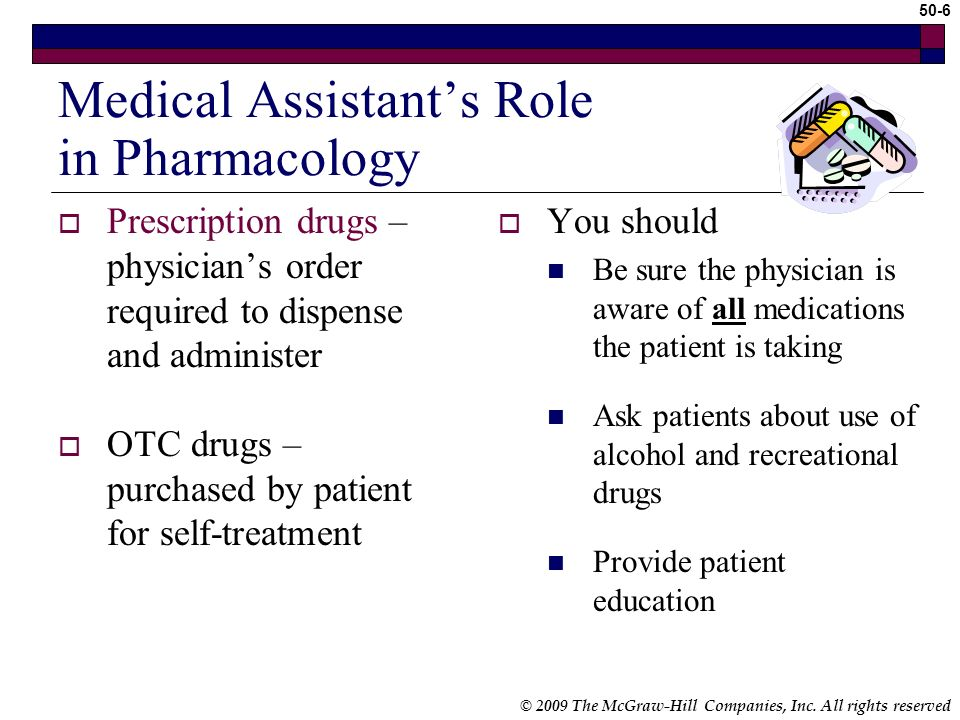 © 2009 The McGraw-Hill Companies, Inc. All rights reserved 50-5 Introduction Pharmacology – science or study of drugs Medication errors can result in
