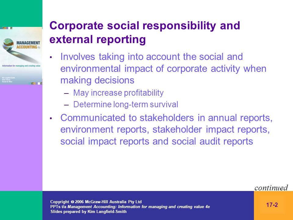 Copyright 2006 McGraw-Hill Australia Pty Ltd PPTs t/a Management Accounting: Information for managing and creating value 4e Slides prepared by Kim Langfield-Smith 17-13