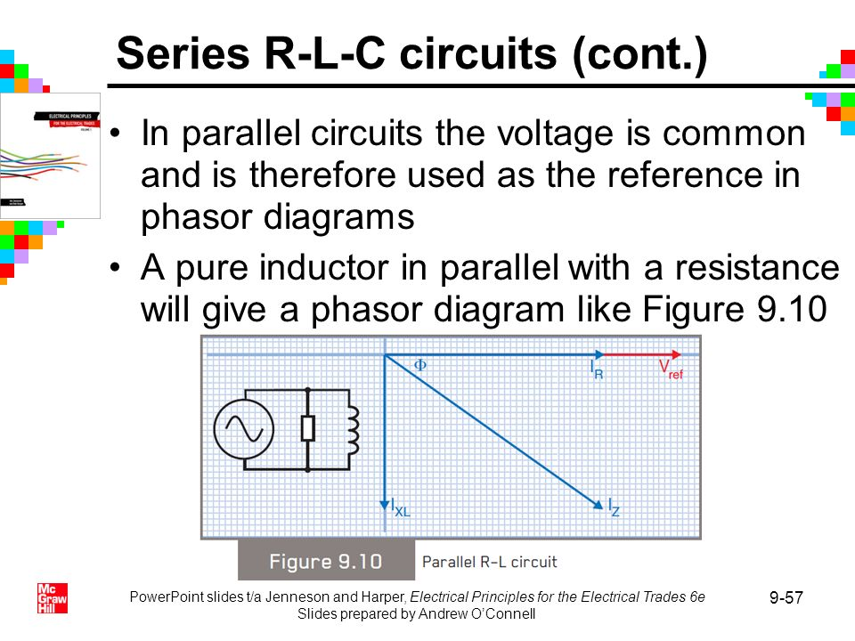 PowerPoint slides t/a Jenneson and Harper, Electrical Principles for the Electrical Trades 6e Slides prepared by Andrew OConnell 9-57 In parallel circ
