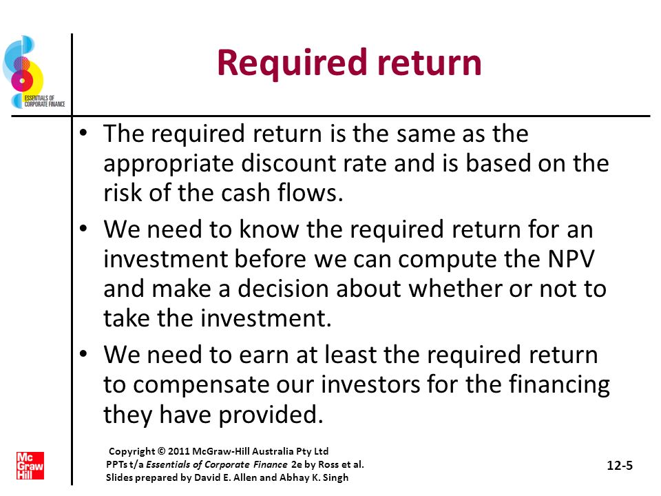 Quick quiz What are the two approaches for computing the cost of equity.