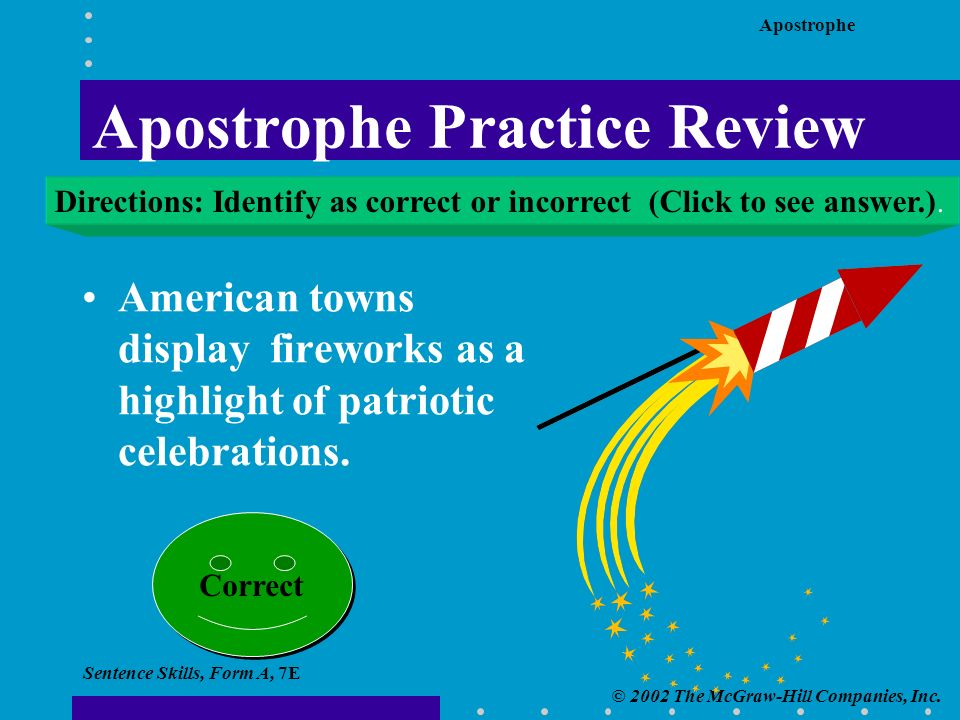 Apostrophe © 2002 The McGraw-Hill Companies, Inc.