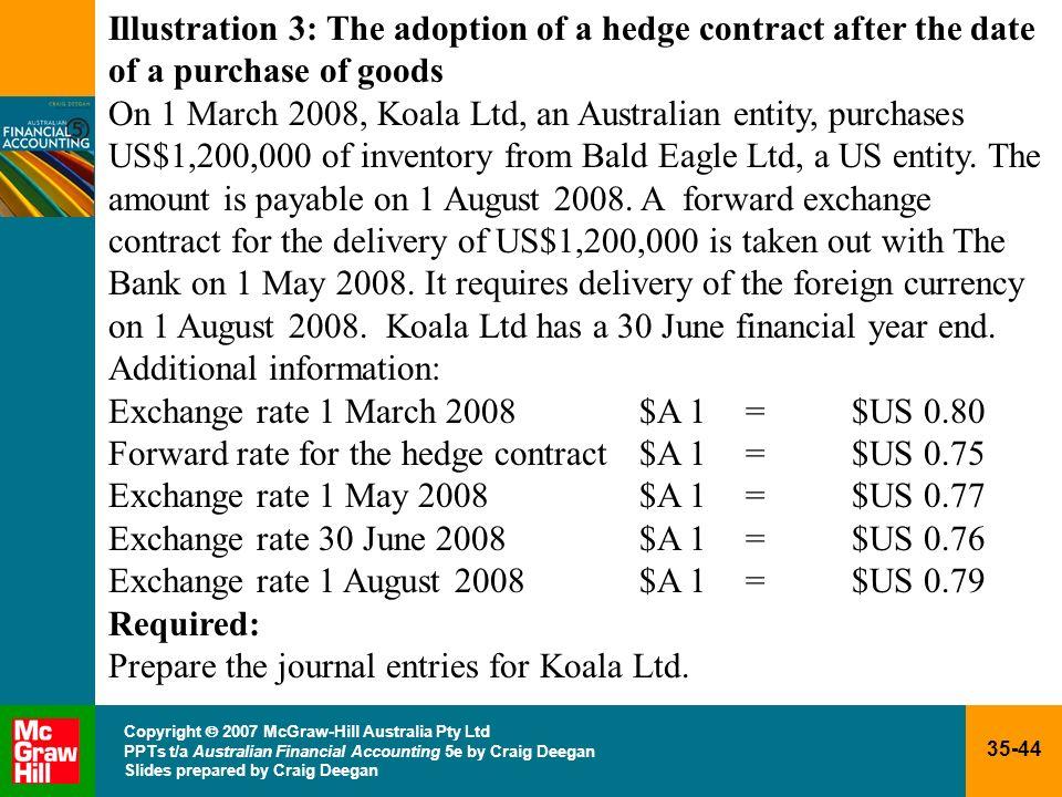 35-44 Copyright 2007 McGraw-Hill Australia Pty Ltd PPTs t/a Australian Financial Accounting 5e by Craig Deegan Slides prepared by Craig Deegan Illustr