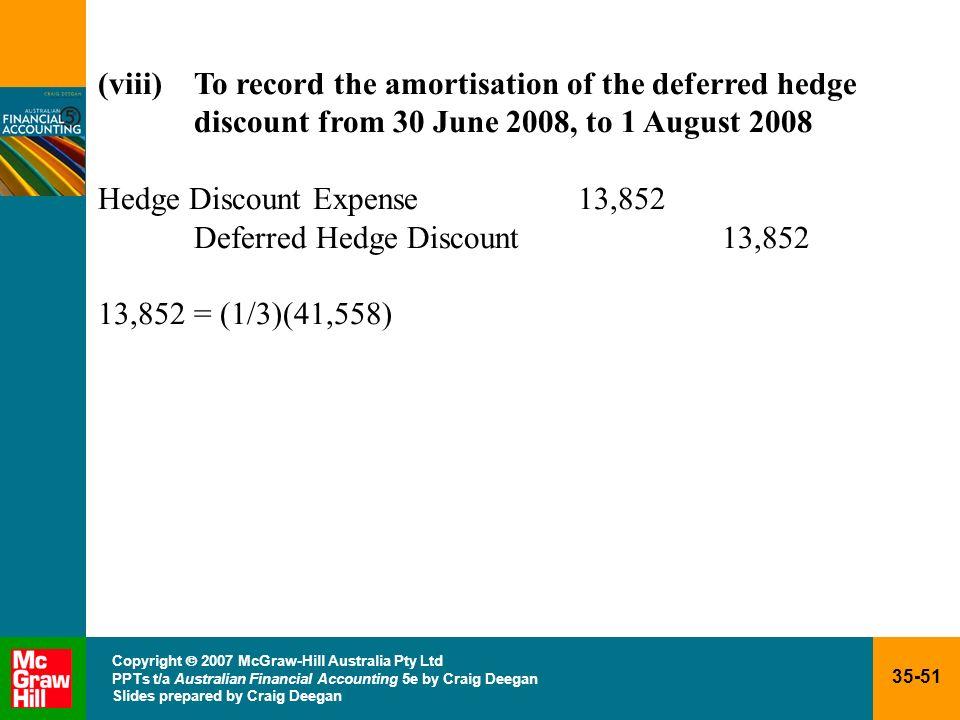 35-51 Copyright 2007 McGraw-Hill Australia Pty Ltd PPTs t/a Australian Financial Accounting 5e by Craig Deegan Slides prepared by Craig Deegan (viii)T