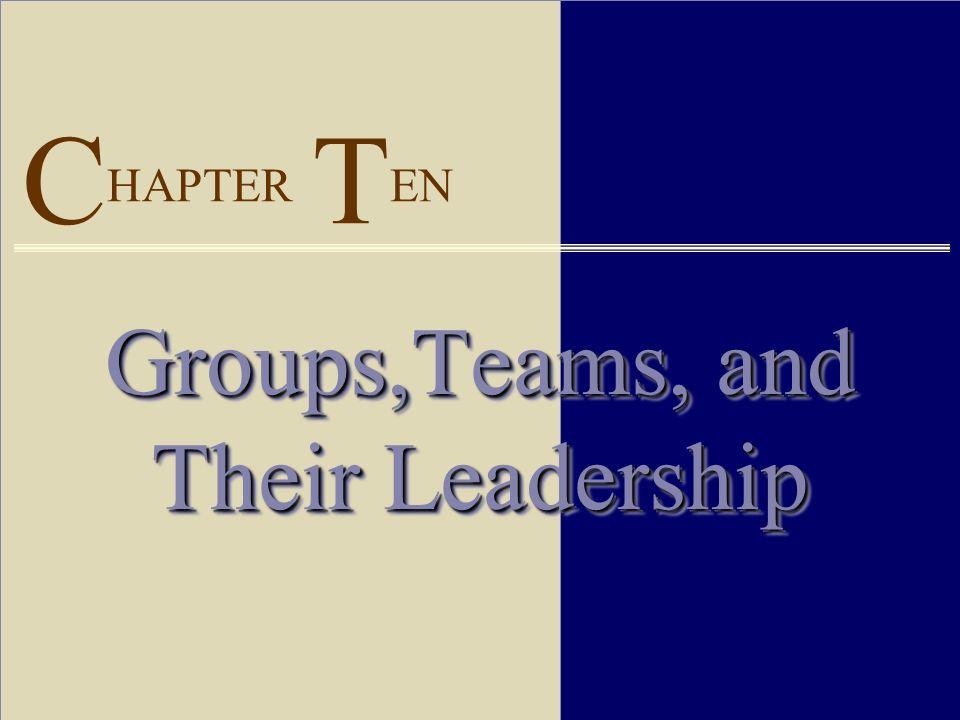 C HAPTER T EN Groups,Teams, and Their Leadership
