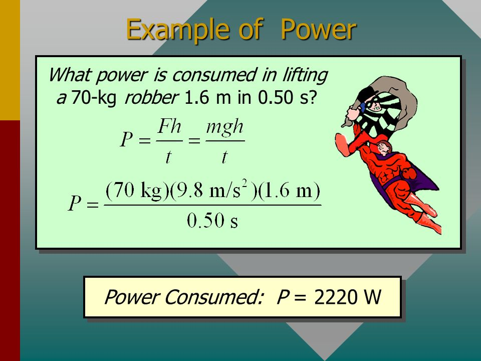 Units of Power 1 W = 1 J/s and 1 kW = 1000 W One watt (W) is work done at the rate of one joule per second. One ft lb/s is an older (USCS) unit of pow