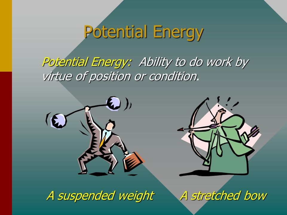 Energy Energyis anything that can be con- verted into work; i.e., anything that can exert a force through a distance Energy is anything that can be co