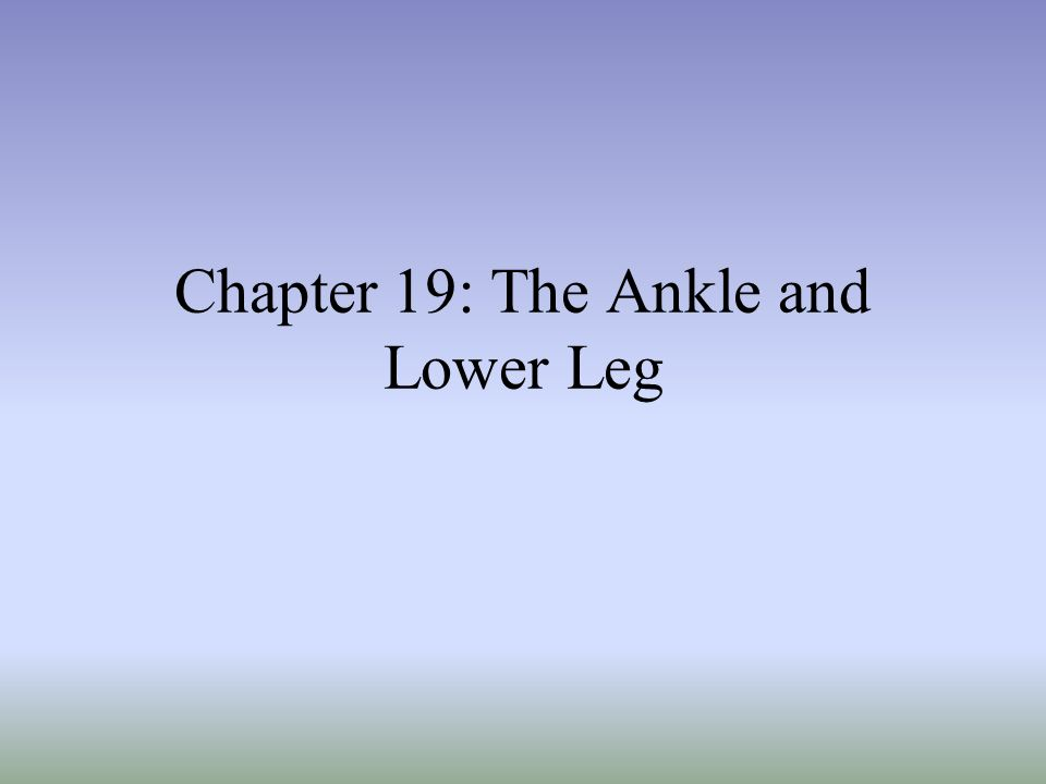 –Kleigers test Used primarily to determine extent of damage to the deltoid ligament and may be used to evaluate distal ankle syndesmosis, anterior/posterior tibiofibular ligaments and the interosseus membrane With lower leg stabilized, foot is rotated laterally to stress the deltoid –Medial Subtalar Glide Test Performed to determine presence of excessive medial translation of the calcaneus on the talus Talus is stabilized in subtalar neutral, while other hand glides the calcaneus, medially A positive test presents with excessive movement, indicating injury to the lateral ligaments