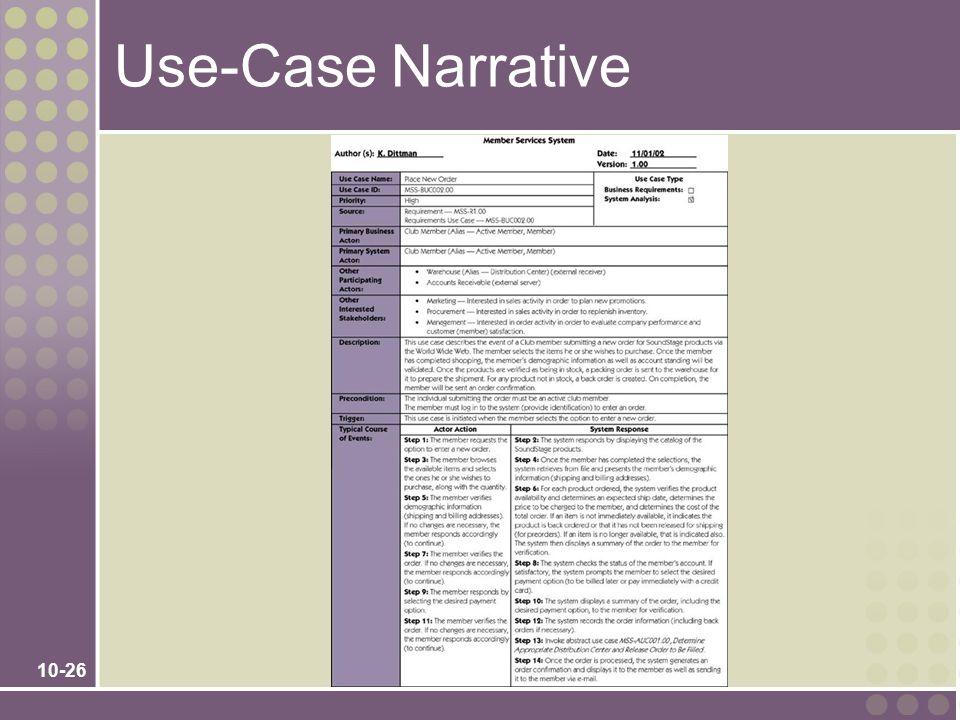 10-26 Use-Case Narrative