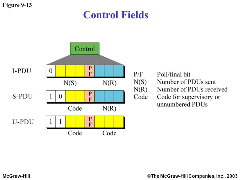 McGraw-Hill©The McGraw-Hill Companies, Inc., 2003 Figure 9-13 Control Fields