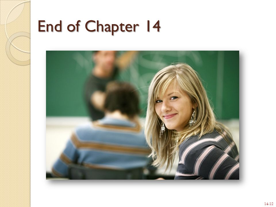 14-12 End of Chapter 14