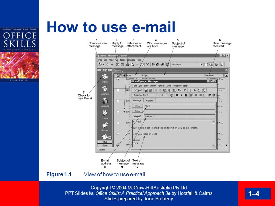 Copyright © 2004 McGraw-Hill Australia Pty Ltd PPT Slides t/a Office Skills: A Practical Approach 3e by Horsfall & Cairns Slides prepared by June Breheny 1–25 Packets and parcels Padded bags Tough bags Expandable tough bags Mailing boxes Special purpose products Mailing tubes and accessories