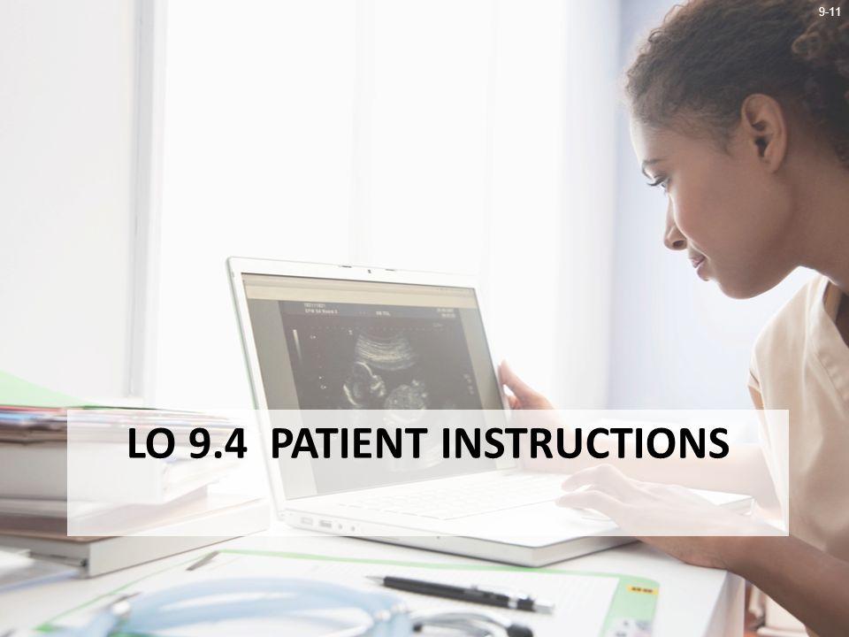 9-11 LO 9.4 PATIENT INSTRUCTIONS