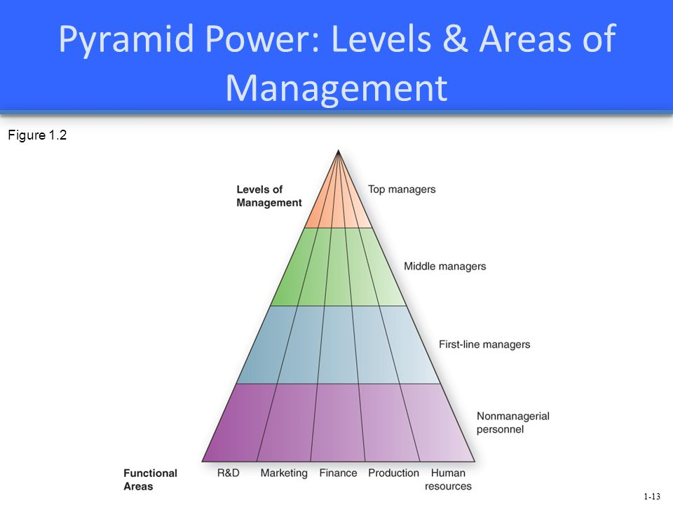 1-13 Pyramid Power: Levels & Areas of Management Figure 1.2