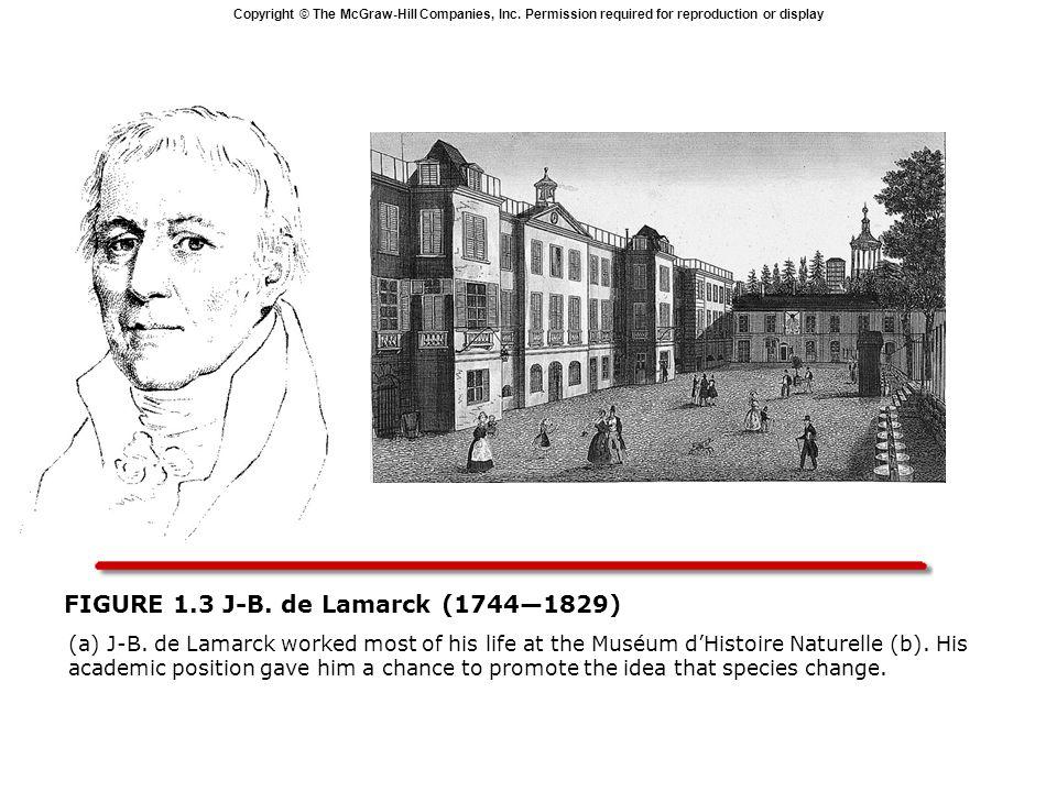 Copyright © The McGraw-Hill Companies, Inc. Permission required for reproduction or display FIGURE 1.3 J-B. de Lamarck (17441829) (a) J-B. de Lamarck