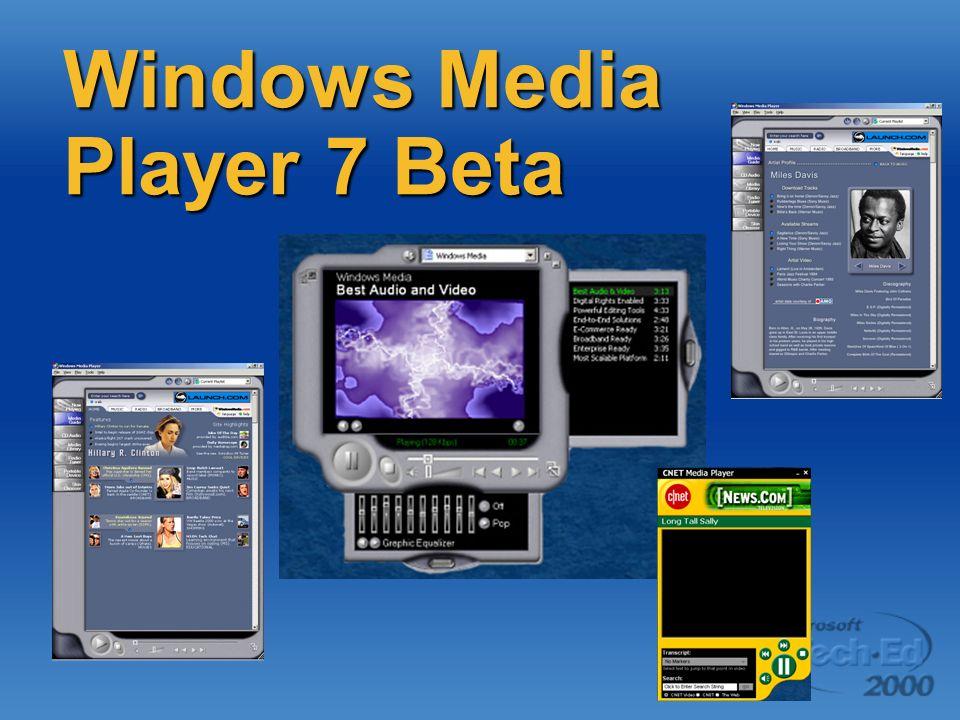 Windows Media Player 7 Beta