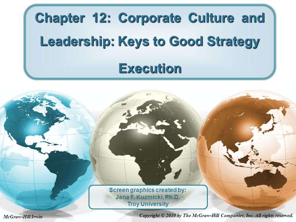 Types of Corporate Cultures Strong vs.