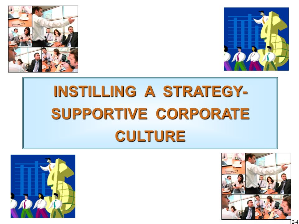 12-3 Chapter Roadmap Instilling a Corporate Culture that Promotes Good Strategy Execution Identifying the Key Features of a Companys Corporate Culture